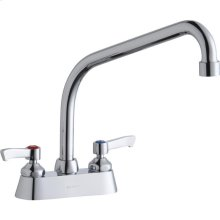 """Elkay 4"""" Centerset with Exposed Deck Faucet with 10"""" High Arc Spout 2"""" Lever Handles Chrome"""