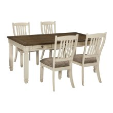 Aria - Antique White 5 Piece Dining Room Set