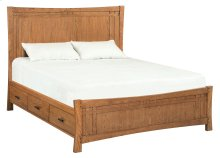 LSO Prairie City Cal-King Panel Storage Bed
