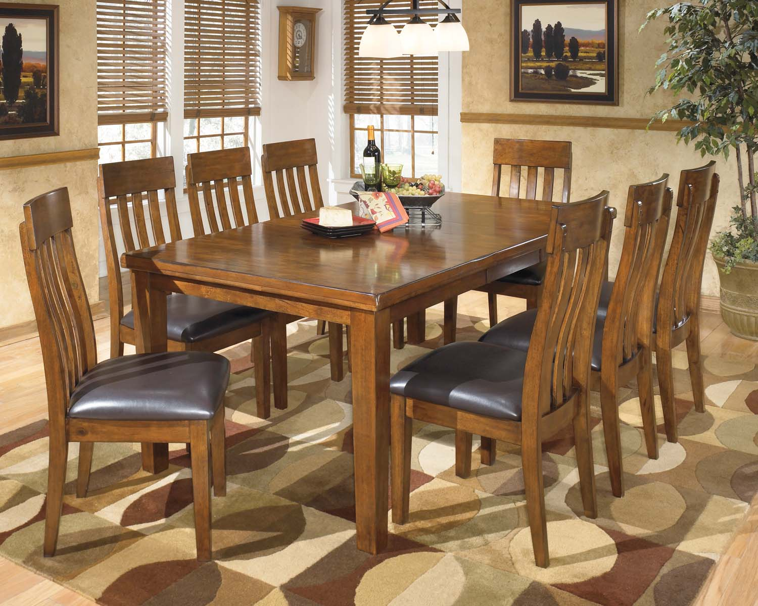 Ralene   Medium Brown 5 Piece Dining Room Set