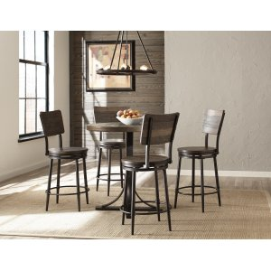 Hillsdale FurnitureJennings Round Counter Height Table W/ Metal Base and Swivel Stools