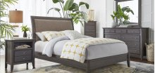 1X57 Clevelander Queen BED COMPLETE (HB, FB, Rails & Slats)