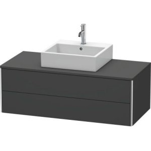 Vanity Unit For Console Wall-mounted, Graphite Matt (decor)