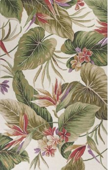 Colonial 1737 Ivory Tropical Paradise 2' X 8' Runner