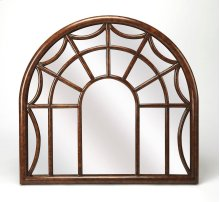Reflect your taste for elegance and country decor in your home with this beautiful wall mirror. Resembling a spider web window frame, this wood mirrored piece complements a vintage style while offering a shimmering touch to any wall space. Hang in your