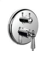 "1/2"" Thermostatic Trim With Volume Control and 3-way Diverter in Polished Chrome"