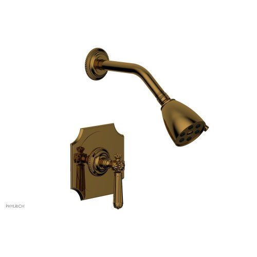 MARVELLE Pressure Balance Shower Set - Lever Handle 162-22 - French Brass