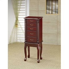 Traditional Merlot Jewelry Armoire