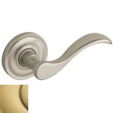 Satin Brass and Brown 5455V Wave Lever