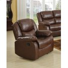 BROWN RECLINER W/MOTION Product Image