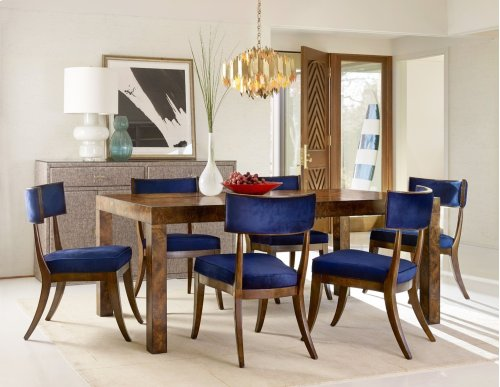 Dining Room Long Board Rectangle Dining Table w/ 2-20in leaves