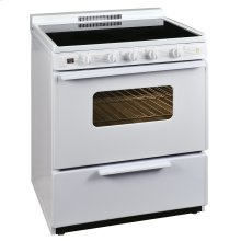 30 in. Freestanding Smooth Top Electric Range in White