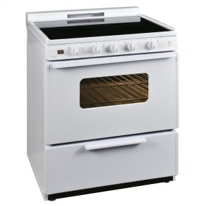 Premier30 in. Freestanding Smooth Top Electric Range in White