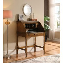 Palmetto Warm Honey Roll Top Secretary Desk