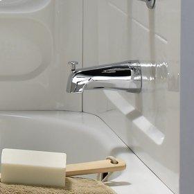 Slip-On 4 Inch Diverter Tub Spout - Polished Chrome
