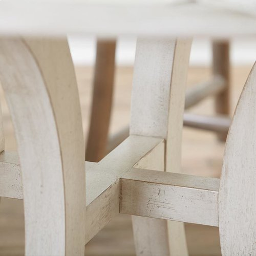 "Custom Dining 60"" Glass Table w/Atlas Base"