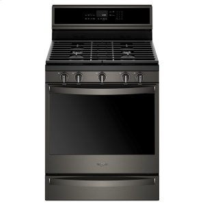 5.8 cu. ft. Smart Freestanding Gas Range with EZ-2-Lift Grates - FINGERPRINT RESISTANT BLACK STAINLESS
