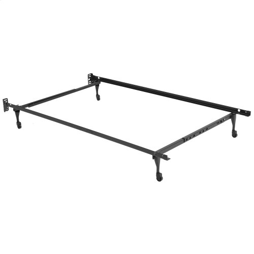 Sentry Adjustable Bed Frame 7960C with Headboard Brackets and (4) Caster Legs, Twin - Queen