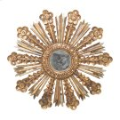 Gold Leaf Starburst Mirror With Antique Mirror Insets. Product Image