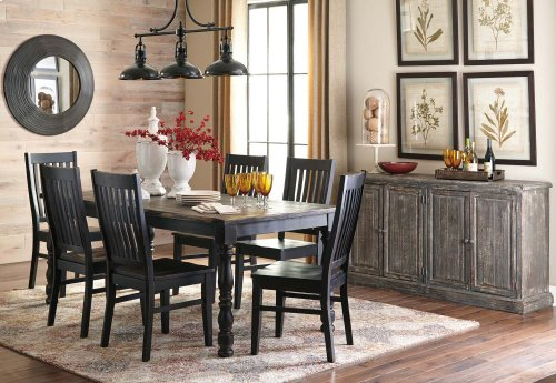 Clayco Bay - Black/Gray 5 Piece Dining Room Set