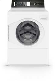 White Left Hand/Right Hand Hinge Front Load Washer Product Image