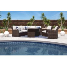 Salceda - Beige/Brown 3 Piece Patio Set