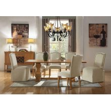Parkins Traditional Rustic Amber Side Chair With Skirt