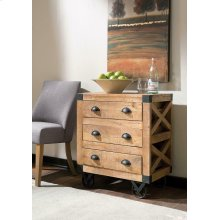 Rustic Three-drawer Accent Cabinet