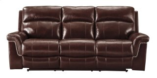 Power Reclining Sofa with Power Headrest - Leather