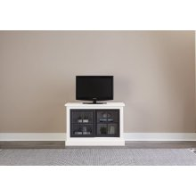 40 Inch Console - Snow/Black Finish