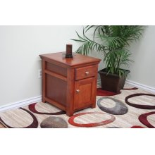 S250 Shaker Oak or Alder Fully Enclosed End Table