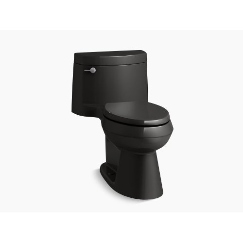 Black Black Comfort Height One-piece Elongated 1.28 Gpf Toilet With Aquapiston Flush Technology, Left-hand Trip Lever and Concealed Trapway