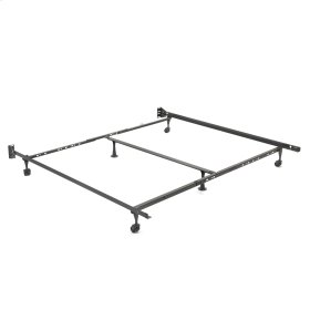 """Adjust-A-Matic U36R Universal Bed Frame with Reversible Headboard Brackets and 2"""" Locking Rug Rollers, Twin / King"""