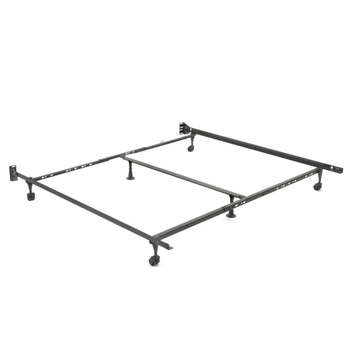 "Adjust-A-Matic U36R Universal Bed Frame with Reversible Headboard Brackets and 2"" Locking Rug Rollers, Twin / King"