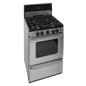 Premier24 in. ProSeries Freestanding Sealed Burner Gas Range in Stainless Steel