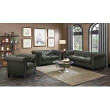 Roy Traditional Grey Three-piece Living Room Set