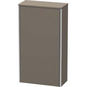 Semi-tall Cabinet, Flannel Grey Satin Matt Lacquer
