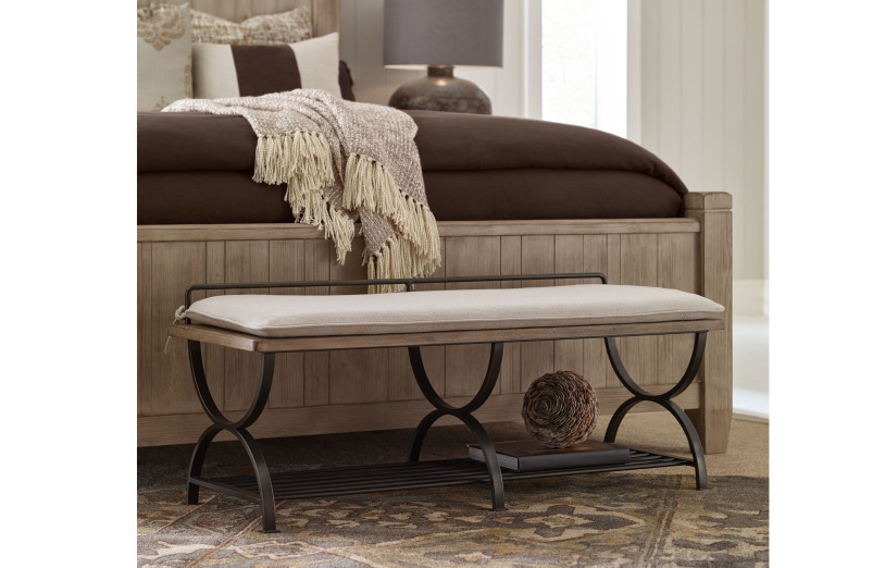 75004800legacy Classic Furniture Monteverdi By Rachael Ray Bed Bench