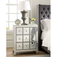 Contemporary Mirrored Accent Cabinet