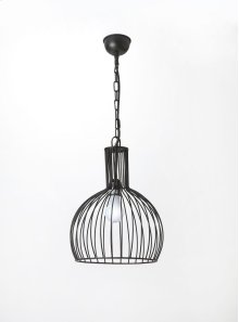 This distinctive single light pendant is an attractive accent in virtually any space. Featuring a black iron finish, it is hand crafted from iron.
