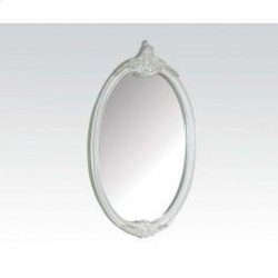 Pearl White Oval Mirror