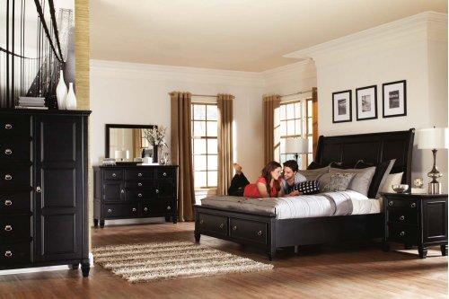 Greensburg - Black 2 Piece Bedroom Set