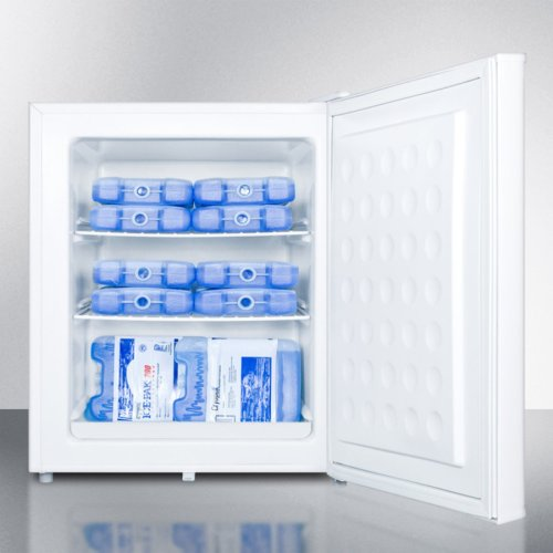 Compact Commercially Listed Manual Defrost All-freezer With Lock and Reversible Door