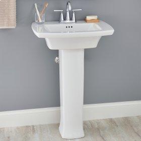 Edgemere Pedestal Sink  Center Hole Only  American Standard - White