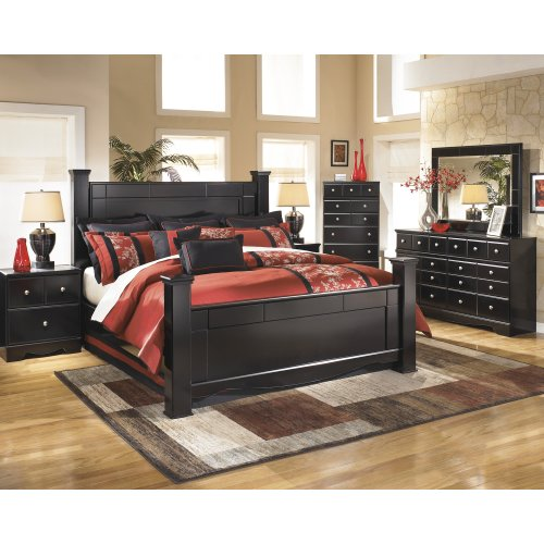 Ashley 4-Piece King Poster w/ Storage Bedroom Set
