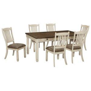Ashley Furniture Bolanburg - Antique White 7 Piece Dining Room Set