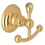 RohlItalian Brass Italian Bath Crystal Double Robe Hook