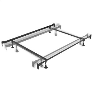 Leggett And PlattEngineered Adjustable PL834G Bed Frame with Fixed Headboard & Footboard Brackets and (4) Glide Legs, Twin - Full