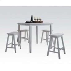 White 5pc Pack Cntr Set Product Image