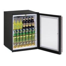 "Ada Series 24"" Ada Glass Door Refrigerator With Stainless Frame (lock) Finish and Field Reversible Door Swing (115 Volts / 60 Hz)"